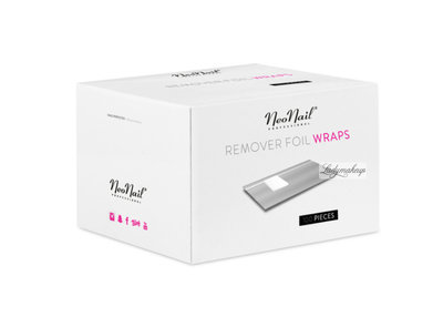 Foil Nail Wraps - 100 pcs